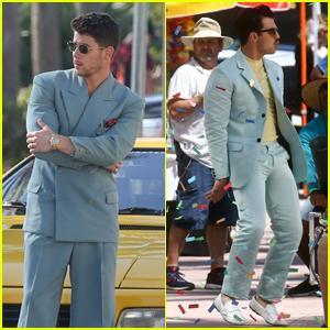 Nick & Joe Jonas Are Shooting a Music Video in Miami!