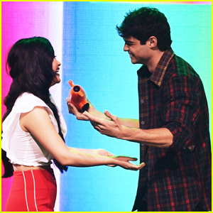 Noah Centineo is Presented with Favorite Movie Actor by Lana Condor at KCAs 2019!