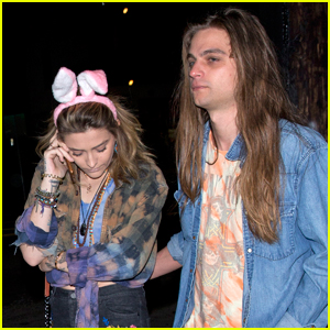 Paris Jackson Sports Bunny Ears for Night Out with Boyfriend Gabriel Glenn
