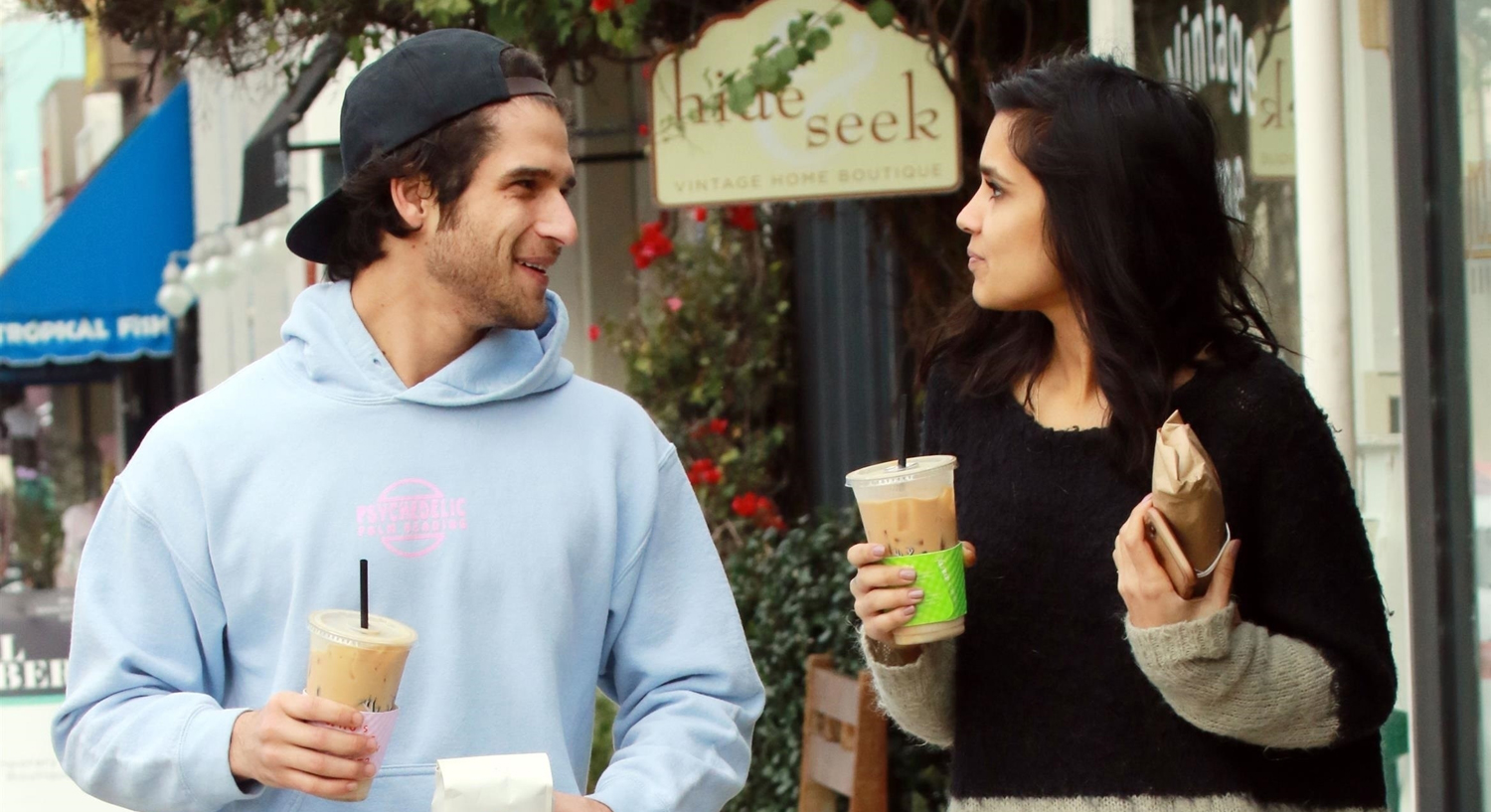 Tyler Posey & Sophia Taylor Ali Couple Up for Coffee in LA!