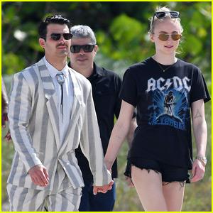 Sophie Turner Visits Joe Jonas on Miami Video Shoot