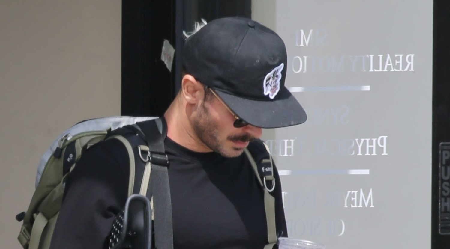 Zac Efron Keeps a Low Profile at Physical Therapy