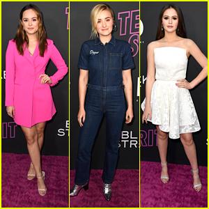 Hayley Orrantia, AJ Michalka & Olivia Sanabia Step Out for 'Teen Spirit' Premiere