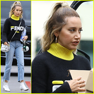 Ashley Tisdale Wears Full Fendi Look While Running Errands in LA