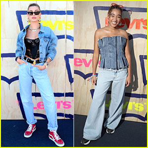 Hailey Bieber & Amandla Stenberg Hit Up Levi's Party at Coachella 2019