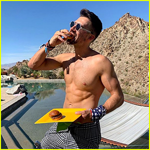 James Maslow Eats Hamburger Shirtless, Reveals 'Love U Sober' Artwork