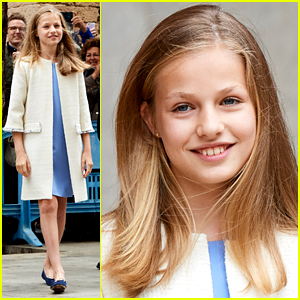 Princess Leonor Wears Pretty Blue Dress For Easter Mass With Sister Sofia in Spain