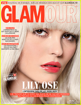 Lily-Rose Depp Switches Up Her Look For 'Glamour Paris'