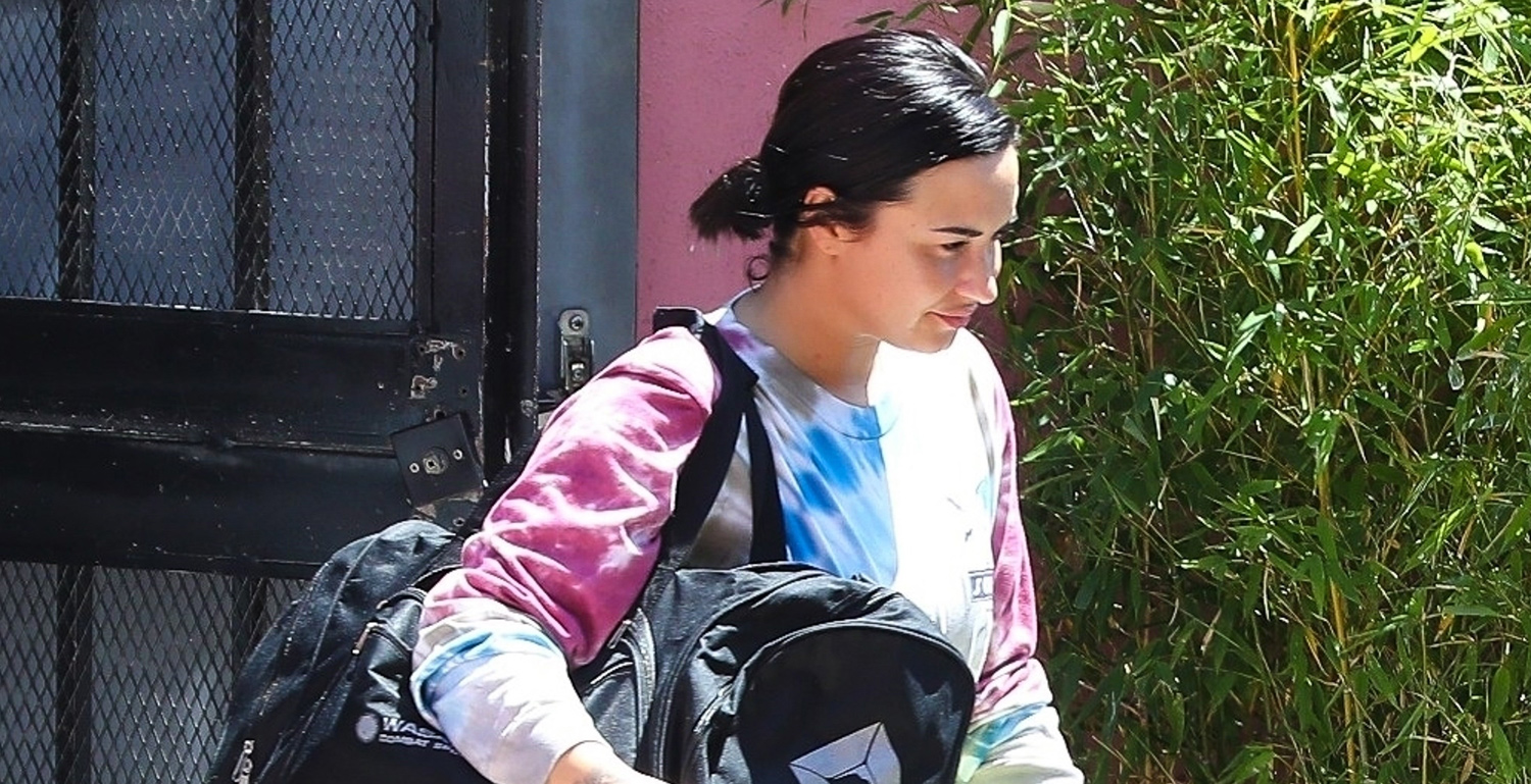 Demi Lovato Works Up a Sweat at the Gym!