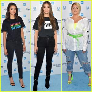 Nina Dobrev, Hailee Steinfeld & Meghan Trainor Speak Out at WE Day California!