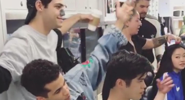 Noah Centineo, Ross Butler, & Jordan Fisher Goof Around in 'TATBILB 2′ Dressing Room