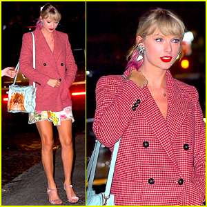 Taylor Swift Carries Cute Cat Purse to Gigi Hadid's Birthday Party!