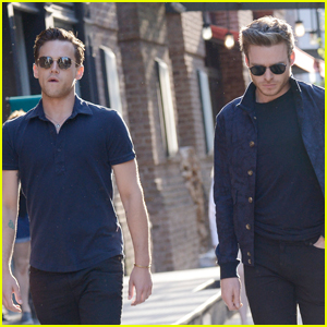 Brandon Flynn Hangs Out with Richard Madden in NYC