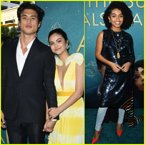 Camila Mendes Supports Boyfriend Charles Melton at 'The Sun is Also a Star' Premiere!