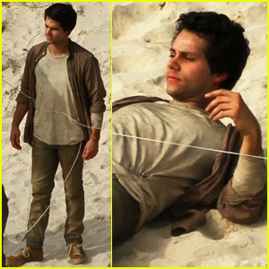 Dylan O'Brien Gets to Work Filming 'Monster Problems' in Australia