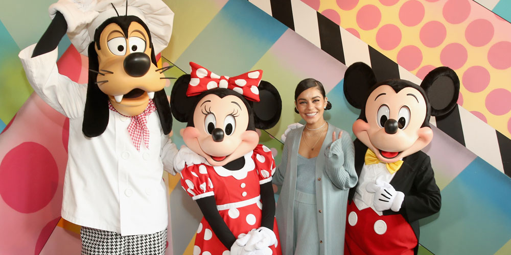 Vanessa Hudgens Has Epic Day With Mickey Mouse While Opening New Black Tap Restaurant at Disneyland