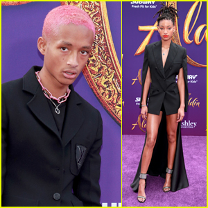 Jaden & Willow Smith Support Their Dad at 'Aladdin' Premiere!