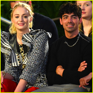 Joe Jonas & Sophie Turner Sit Front Row at the Louis Vuitton Fashion Show!
