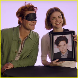 KJ Apa Kisses Cole Sprouse's Picture While Playing 'Kiss & Tell' with Maia Mitchell