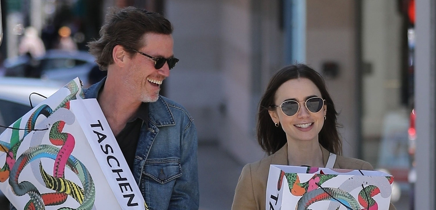 Lily Collins Picks Up New Art Books In Beverly Hills