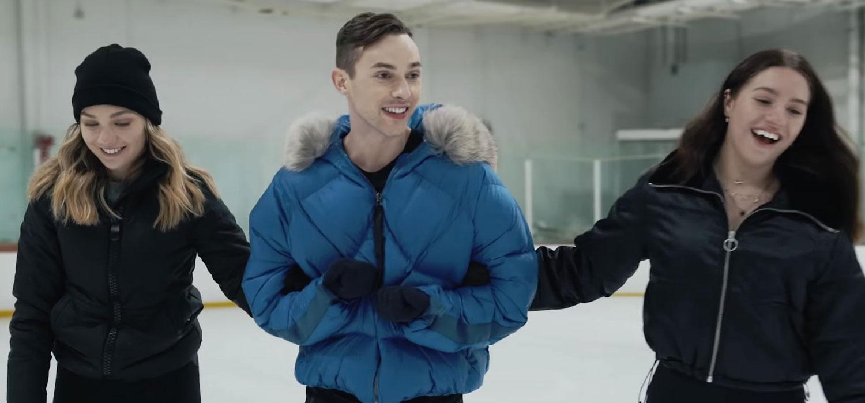 Maddie & Kenzie Ziegler Learn To Ice Skate with Adam Rippon