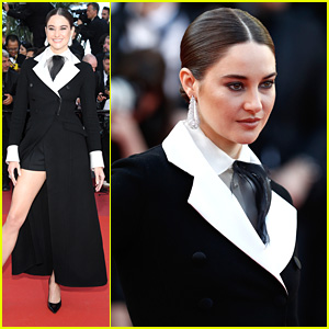 Shailene Woodley Rocks Sharp Tuxedo Dress at Cannes Film Fesival 2019