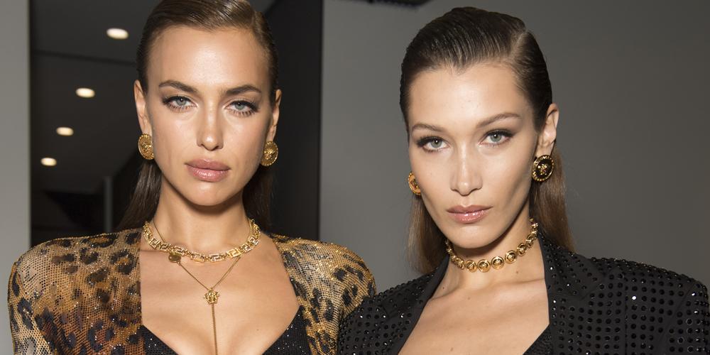 Bella Hadid Walks In Versace's Milan Show With Sister Gigi & More