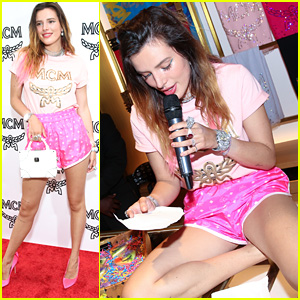 Bella Thorne Reads From Her Upcoming Book at MCM's LA Pride Party