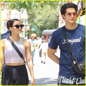 Camila Mendes Steps Out for the Day with Charles Melton!