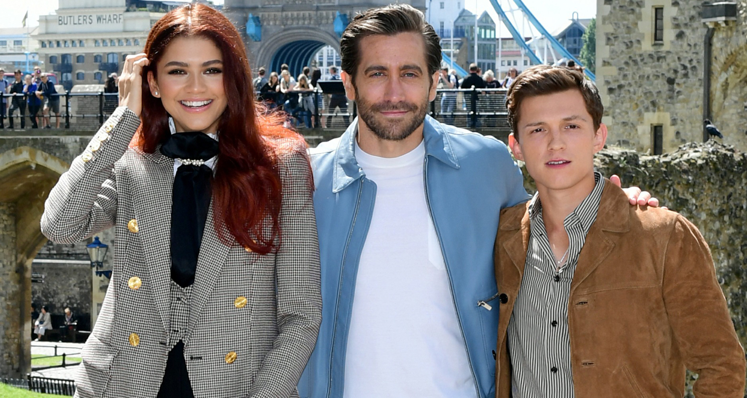 Tom Holland & Zendaya Join Jake Gyllenhaal at 'Spider-Man: Far From Home' London Photo Call!