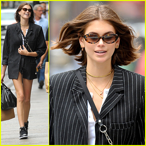 Kaia Gerber Grabs Groceries With Brother Presley in NYC