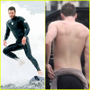 3cb3a6fbb18 Liam Hemsworth Goes Surfing After Arriving Back in L.A. · Shirtless Justin  Bieber Shows Off ...