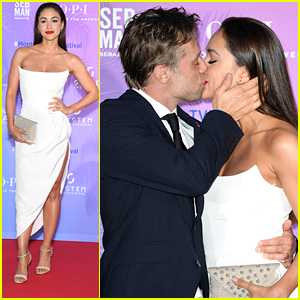 Lindsey Morgan Kisses Boyfriend Shaun Sipos at Monte Carlo TV Festival