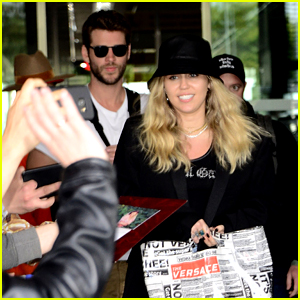 Liam Hemsworth Supports Miley Cyrus on Her Music Promo Tour!