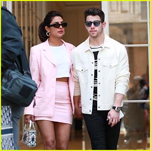 Nick Jonas & Priyanka Chopra Go Shopping at Dior in Paris