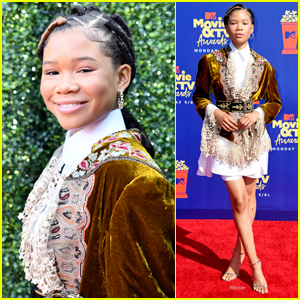 Storm Reid Arrives in Style for MTV Movie & TV Awards 2019