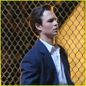 Ansel Elgort Spends Late Night on Set Filming 'West Side Story'
