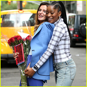 Bella Thorne & Keke Palmer Laugh Together After Lunch in NYC