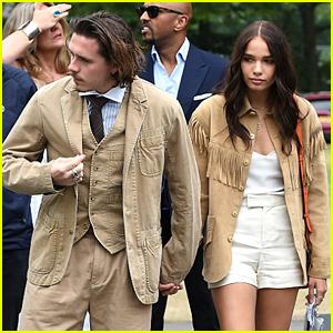 Brooklyn Beckham & Hana Cross Are A Matching Couple At Wimbledon