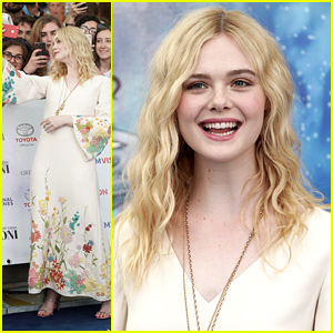 Elle Fanning Shows Off All Her Freckles at the Giffoni Film Festival 2019