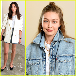 Gigi Hadid & Phoebe Tonkin Celebrate Wardrobe NYC's New Denim Collection Launch