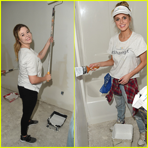 Sasha Pieterse, Anne Winters, and Brandon Larracuente Work With Habitat for Humanity!
