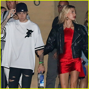 Hailey Bieber Keeps Close to Husband Justin After a Dinner Date