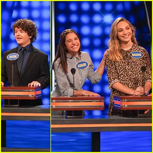 Maddie & Kenzie Ziegler Battle Gaten Matarazzo On 'Celebrity Family Feud' - Find Out Who Won!