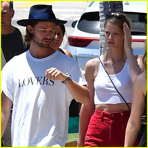 Patrick Schwarzenegger & Abby Champion Hang Out With His Family