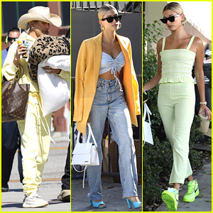 Hailey Bieber Keeps It Bright For Weekend Outings!