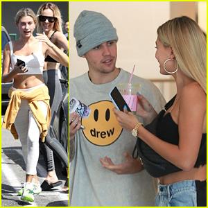 Hailey Bieber Brings Husband Justin Along For Shopping Trip to Barneys New York