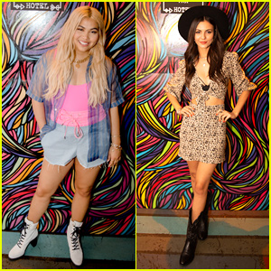 Hayley Kiyoko & Victoria Justice Hit Up Bed Head Hotel Festival Pop-Up