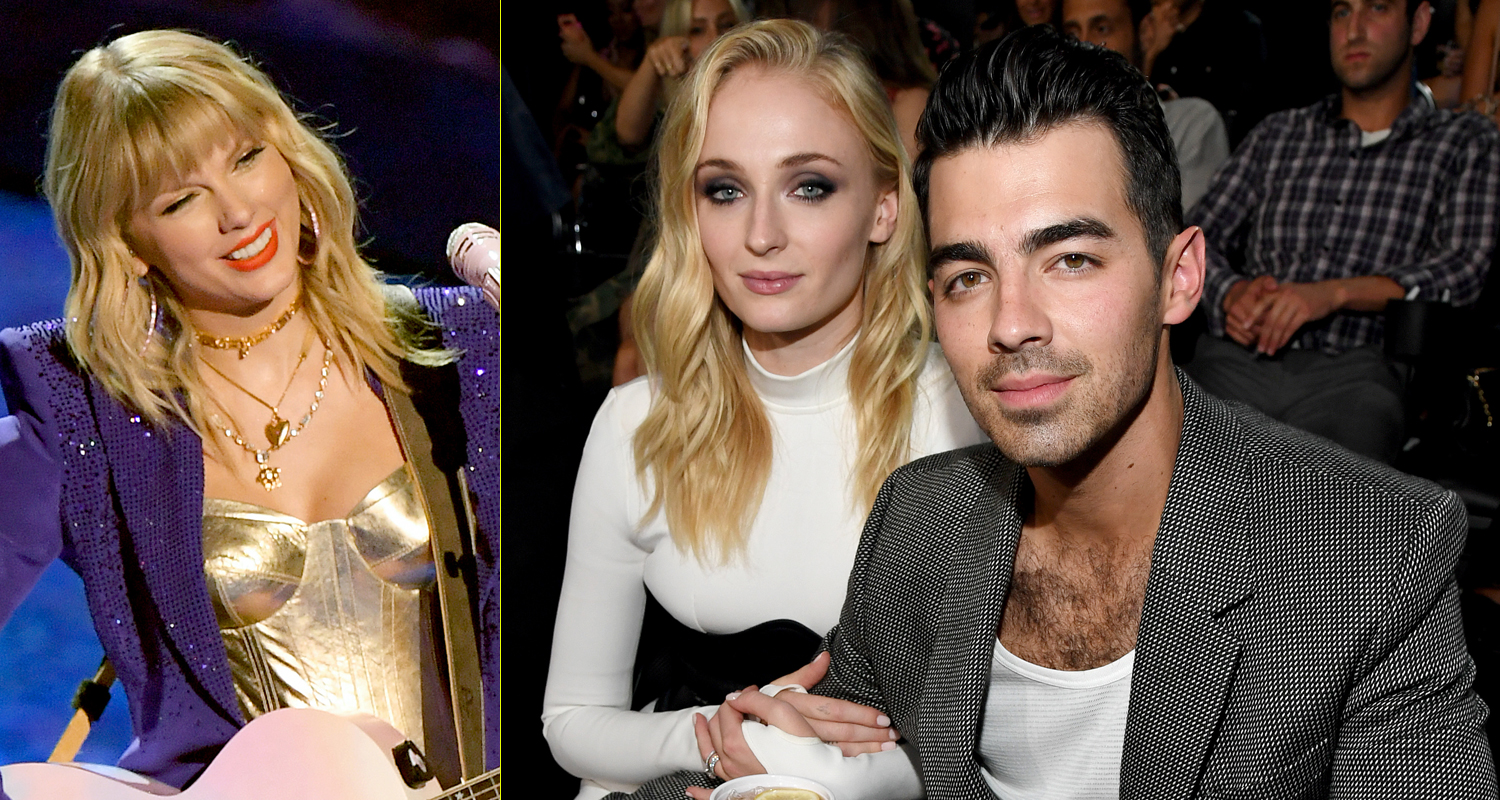 Taylor Swift Gets Support From Ex Joe Jonas Sophie Turner At Vmas 2019 Joe Jonas Sophie Turner Taylor Swift Just Jared Jr