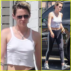 Kristen Stewart Heads to the Salon in L.A.
